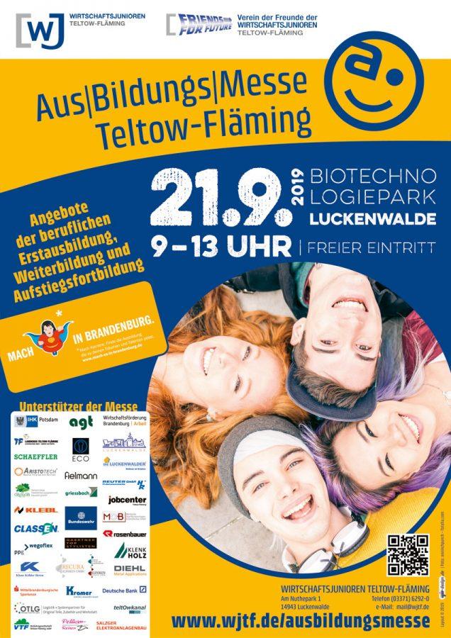 Plakat zur 19. AusBildungsMesse TF